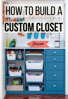 How to build an easy DIY Closet organizer. Simple DIY craft closet organizer plans and tutorial. Step by step video. # Easy DIY organization DIY Craft Closet Organizer Plans - How To Build A Custom Closet with Drawers