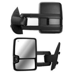 DEDC Tow Mirrors Pair Fit For Chevy Silverado 1500 2500 3500 GMC Sierra 2007 2008 2009 2010 2011 2012 2013