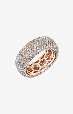 """""""Shayan Afshar Rose Gold Diamond Eternity Band"""" again, if I decided to get married, this would be a lovely band"""