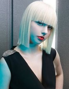 Straight Medium Blond Hairstyle