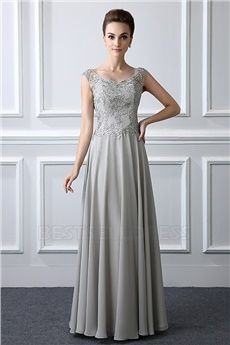 da42adee60 A-Line& V-neck Floor-length Mother of the Bride Dress With Appliques Lace