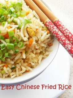 Easy Chinese Fried Rice...step by step.