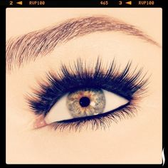 Make your falsies look even more natural by rubbing mascara between your thumb and index finger, then press and sculpt your faux and natural lashes together.
