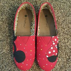 Personally designed Disney shoes Never worn. Perfect condition.  Hand crafted . Painted with canvas markers. chatties Shoes Flats & Loafers