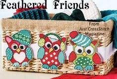 Feathered Friends from the Jan/Feb 2016 issue of Just CrossStitch Magazine. Order a digital copy here: https://www.anniescatalog.com/detail.html?prod_id=128987