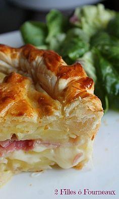 Tourte aux pommes de terre et Cantal