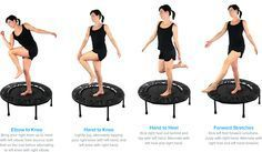 Rebounder exercises/well I didn't think this existed until now! Lol That looks fun!