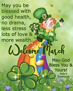 May it be a lucky one for you…🍀 Happy March, Hello March, No Drama, You Are Blessed, God Bless You, Positive Thoughts, St Patricks Day, Are You The One, Fictional Characters