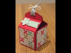 ▶ Tag Topper Box Tutorial with Stampin' Up Products - YouTube