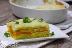 Zapekané kari zemiaky s tekvicou a jogurtom - Tinkine recepty Tofu, Lasagna, Baked Potato, Sandwiches, Potatoes, Mexican, Dinner, Baking, Ethnic Recipes