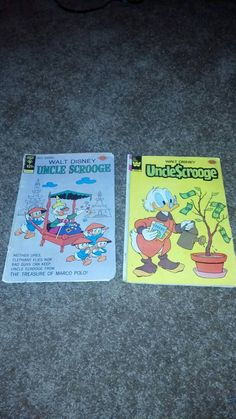 Shop for disney on Etsy, the place to express your creativity through the buying and selling of handmade and vintage goods. Uncle Scrooge, Vintage Comics, Walt Disney, 1970s, My Etsy Shop, Elephant, Comic Books, Handmade Gifts, Check