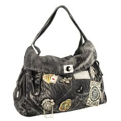 Rieker kabelka zdobená černá