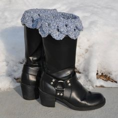 Crocodile Stitch Boot Cuff crochet pattern