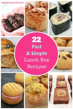 22 Fast & Simple Lunch Box Recipes that kids will absolutely LOVE!! You need this post for when school goes back! #lunchbox #kidfriendly #recipes #school