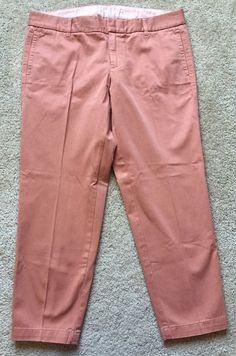 J Crew Women's Salmon 'City Fit' Broken in Scout Khaki Chino Pants Size 8   eBay