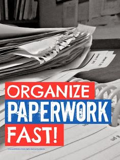 Mums make lists ...: How To Organize Paperwork  - -- featured on Party On The Porch: Plan, Organize and DeClutter!