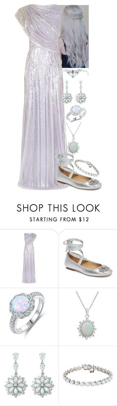 """#155"" by moon-crystal-wolf ❤ liked on Polyvore featuring Jenny Packham, Badgley Mischka, Peermont and Amanda Rose Collection"