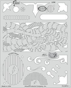 artool freehand airbrush templates steampunk fx junk