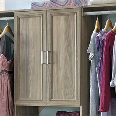 "ClosetMaid SuiteSymphony 55"" W - 120"" W Closet System & Reviews | Wayfair Cheap Wardrobe Closet, Cheap Wardrobes, Closet Rod, Closet Shelves, Closet Storage, Closet Doors, Closet Organization, Bedroom Storage, Best Closet Systems"