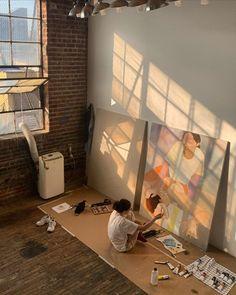 Sunday morning at the studio🌼 📷: Art Hoe Aesthetic, Art Studios, Art School, Dream Life, Aesthetic Pictures, Art Inspo, Artsy, Decoration, Future