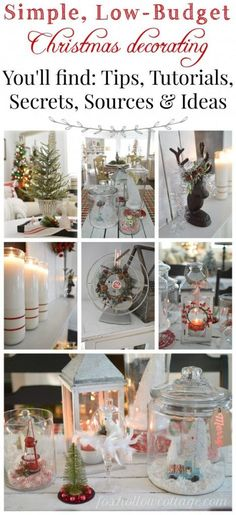 Low Cost Christmas Decorating - decorating for the season can be expensive! Here are cost saving ideas to decorate your home for the holidays!