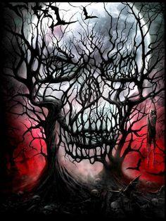 Skull Tree Illustration. JYCTY