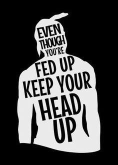 Metal Poster Tupac Shakur