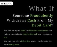 Lost your debit/credit card somewhere but your money is being debited from bank? Know how to secure your money & card through MyAdvo Gk Knowledge, General Knowledge Facts, Knowledge Quotes, Money Cards, Cash Money, Real Facts, Fun Facts, Lawyer Quotes, Ias Study Material