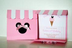 Minnie Mouse Ice Cream Party: invitation