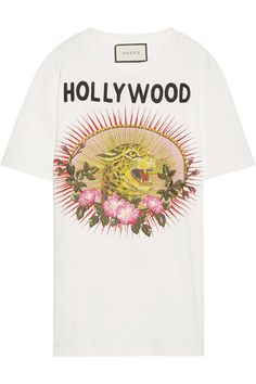 Gucci Appliquéd printed cotton-jersey T-shirt