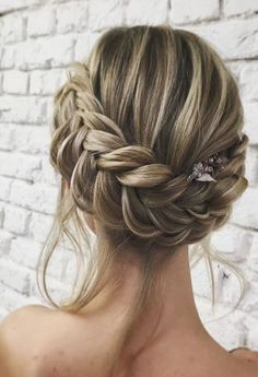 hair styles medium length hair hair stylists near me style wedding hair hair bridesmaid hair styles long hair down hair styles for medium length wedding hair updos hair Wedding Braids, Braided Hairstyles For Wedding, Braided Updo, Up Hairstyles, Pretty Hairstyles, Hairstyle Ideas, Messy Updo, Hairstyle Wedding, Prom Updo