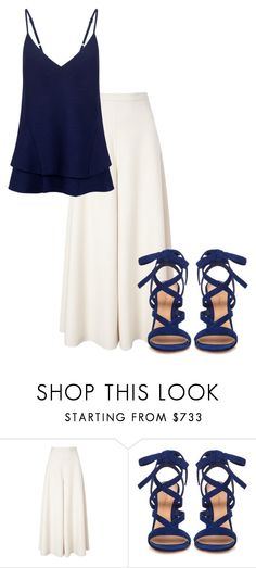 """""""Simply Blue"""" by laurelbeauty on Polyvore featuring Temperley London, Gianvito Rossi, C/MEO COLLECTIVE, women's clothing, women's fashion, women, female, woman, misses and juniors"""
