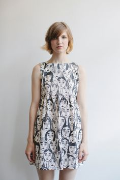 Girl Faces Dress by Leah Goren
