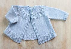 Ravelry: Blue Baby Jacket pattern by Florence Merlin