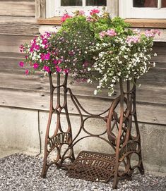 Homespun Plant StandNext time you spy an old sewing machine's treadle base at a flea market, think twice before you walk away. These ornate metal supports can be repurposed as charming stands for...