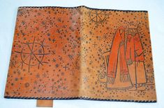 NOS Vintage viking ship Photo album Handmade genuine leather photo album Vintage scrapbook Vikings Estonia Estonian