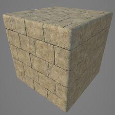 Brick Tile (Egypt style) Tileable, Alex Kotsyk [salvador_cg] on ArtStation at https://www.artstation.com/artwork/zN63Z