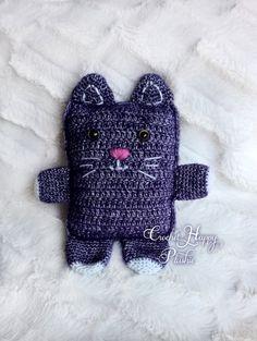 Thomas the Ragdoll Cat / crochet amigurumi / softie plushie / ragdoll cat / cute / vintage / handmade knitted