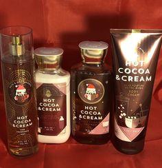 BATH & BODY WORKS Hot Cocoa & Cream Mist, Gel, Lotion & Cream Set FREE SHIPPING 667548084628 | eBay