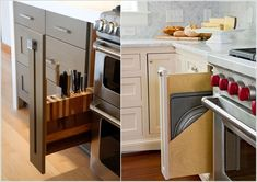 Install Narrow Pull Out Racks at The Sides of The Stove