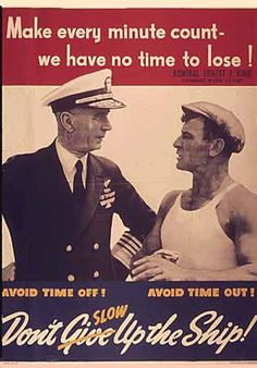 WW2 Poster Make every minute count