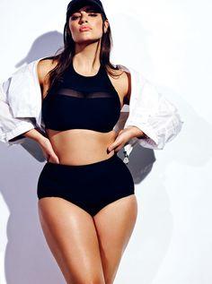 Plus-Size Model Ashley Graham Poses in a Sheer, Black Bikini: Photo - Us Weekly Img Models, Curvy Models, Female Models, Women Models, Curvy Fashion, Plus Size Fashion, Fashion Models, Looks Plus Size, Plus Size Model