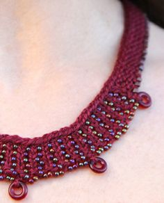 Knit Jewelry - Nelkin Designs Cheerio Necklace Beaded Knitting Kit