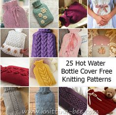 25 Knitting Pattern Hot Water Bottle Cover
