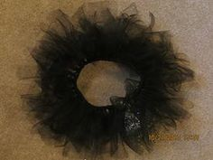 Tutu made from elastic, cut strips of tulle, tied around in slip knots. Tutu, Knots, Wreaths, Decor, Decoration, Door Wreaths, Tutus, Deco Mesh Wreaths, Decorating