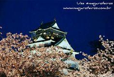 Este é o Castelo de Osaka no Japão.  Um belo clique compartilhado pela nossa amiga turista @siqueira_nath www.megaroteiros.com.br  ___________________________________ Marque suas fotos com a hashtag  #megaroteiros e apareça no Mega Roteiros