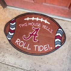 Team Spirit - College Football Door Mat {28 Teams} | Driftwood Market | https://driftwoodmarket.net/collections/collegiate/products/team-spirit-college-football-door-mat-28-teams-driftwood-market