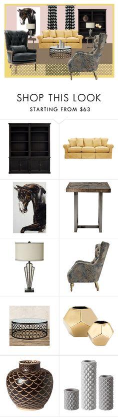 """Arhaus Furniture"" by garadina on Polyvore featuring interior, interiors, interior design, home, home decor, interior decorating, Baldwin, NOVICA, MARBELLA and Global Views"