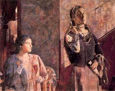 Mujeres en diálogo. 1955. Obra de Antonio López Garcí