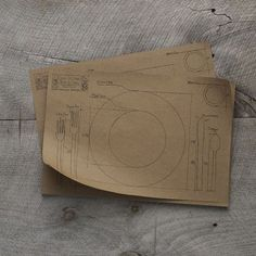 Cake Paper Blueprint Placemat, Kraft